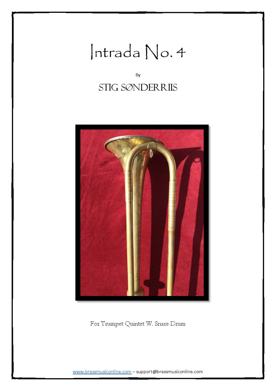 Sonderriis - Intrada No. 4 for Trumpet Ensemble w snare drum