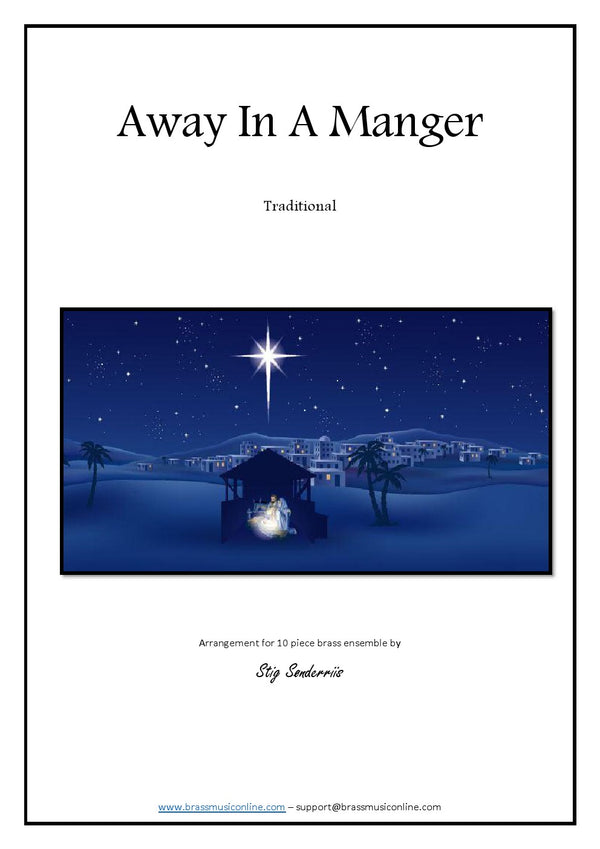 Trad - Away In A Manger for 10 piece Brass