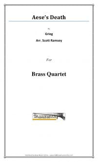 Grieg - Aese's Death - Brass Quartet