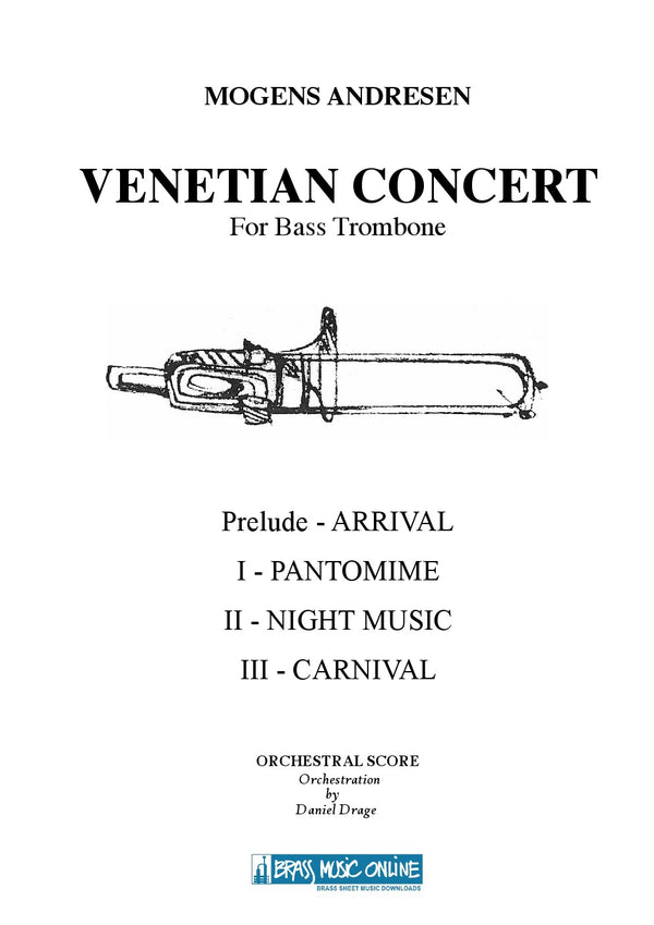Andresen - Venetian Concert for Bass Trombone and Symphony Orchestra