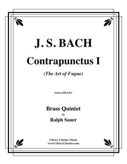 "Bach – Contrapunctus 1 from ""The Art of Fugue"" for Brass Quintet"