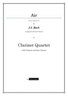 Bach - Air - Clarinet Quartet