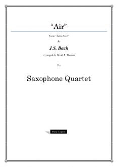 Bach - Air on the G String - Saxophone Quartet