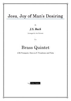 Bach - Jesu, Joy of Man's Desiring - Brass Quintet