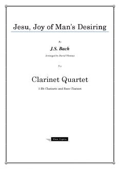 Bach - Jesu, Joy of Man's Desiring - Clarinet Quartet