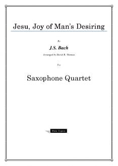 Bach - Jesu, Joy of Man's Desiring - Saxophone Quartet