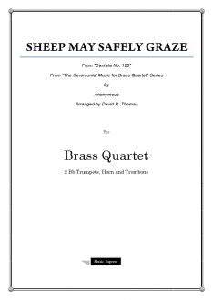 Bach - Sheep May Safely Graze - Brass Quartet
