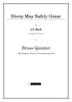 Bach - Sheep May Safely Graze - Brass Quintet