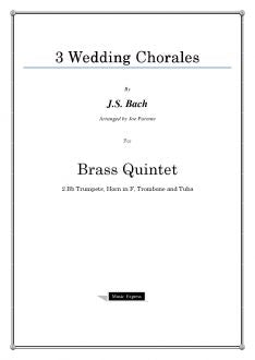 Bach - Three Wedding Chorales - Brass Quintet