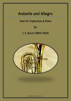 Barat - Andante and Allegro for Euphonium and Piano