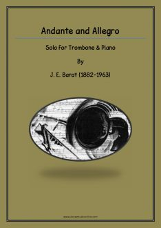Barat - Andante and Allegro for Trombone and Piano