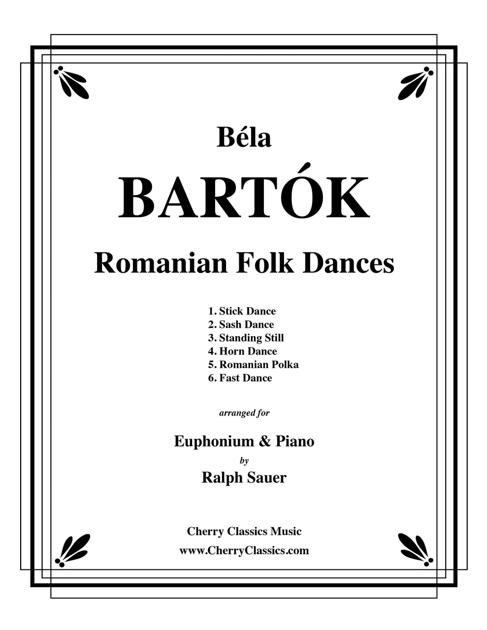 Bartok – Romanian Folk Dances for Euphonium and Piano