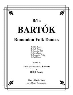 Bartok – Romanian Folk Dances for Tuba or Bass Trombone and Piano