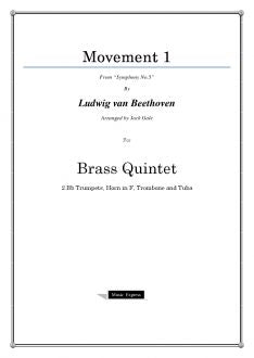 "Beethoven - Movement 1 from ""Symphony No.5"" - Brass Quintet"