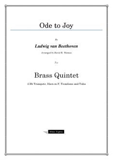 Beethoven - Ode to Joy - Brass Quintet