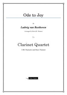 Beethoven - Ode to Joy - Clarinet Quartet