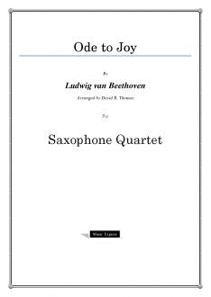 Beethoven - Ode to Joy - Saxophone Quartet