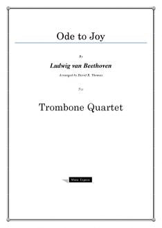 Beethoven - Ode to Joy - Trombone Quartet