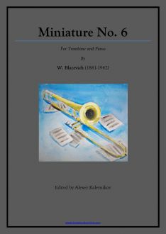 Blazhevich - Miniature No. 6 - Trombone and Piano