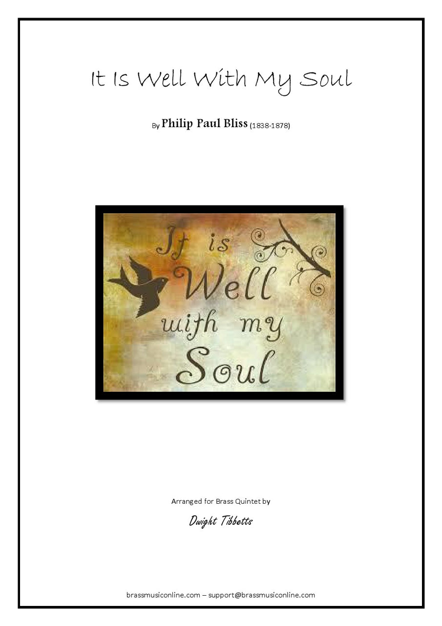 Bliss - It Is Well With My Soul - Brass Quintet