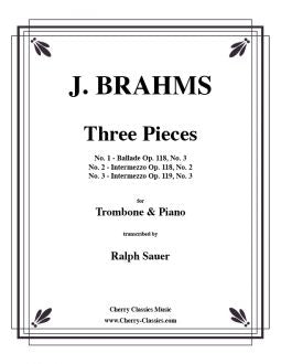 Brahms – Three Pieces for Tenor Trombone and Piano
