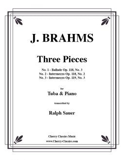 Brahms - Three pieces for Tuba or Bass Trombone and Piano