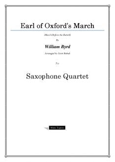 Byrd - Earl of Oxford's March - Saxophone Quartet