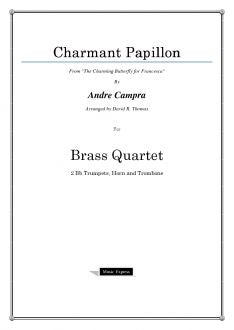 Campra - Charmant Papillon - Brass Quartet