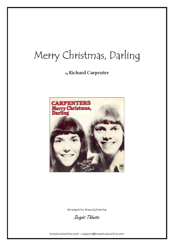 Carpenter - Merry Christmas Darling - Brass Quintet