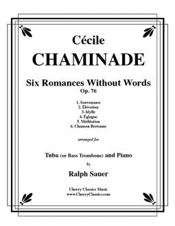 Chaminade – Six Romances Without Words, Op. 76 for Bass Trombone and Piano
