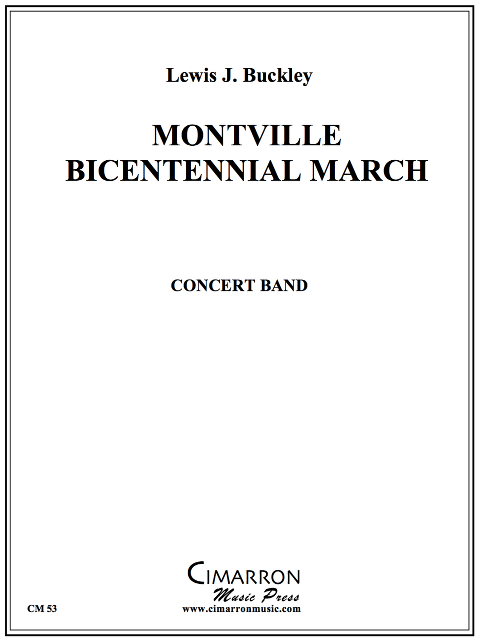 Buckley - Montville Bicentennial March - Concert Band