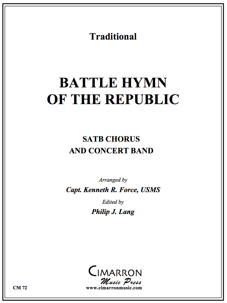 Trad - Battle Hymn of the Republic - Concert Band and SATB Chorus