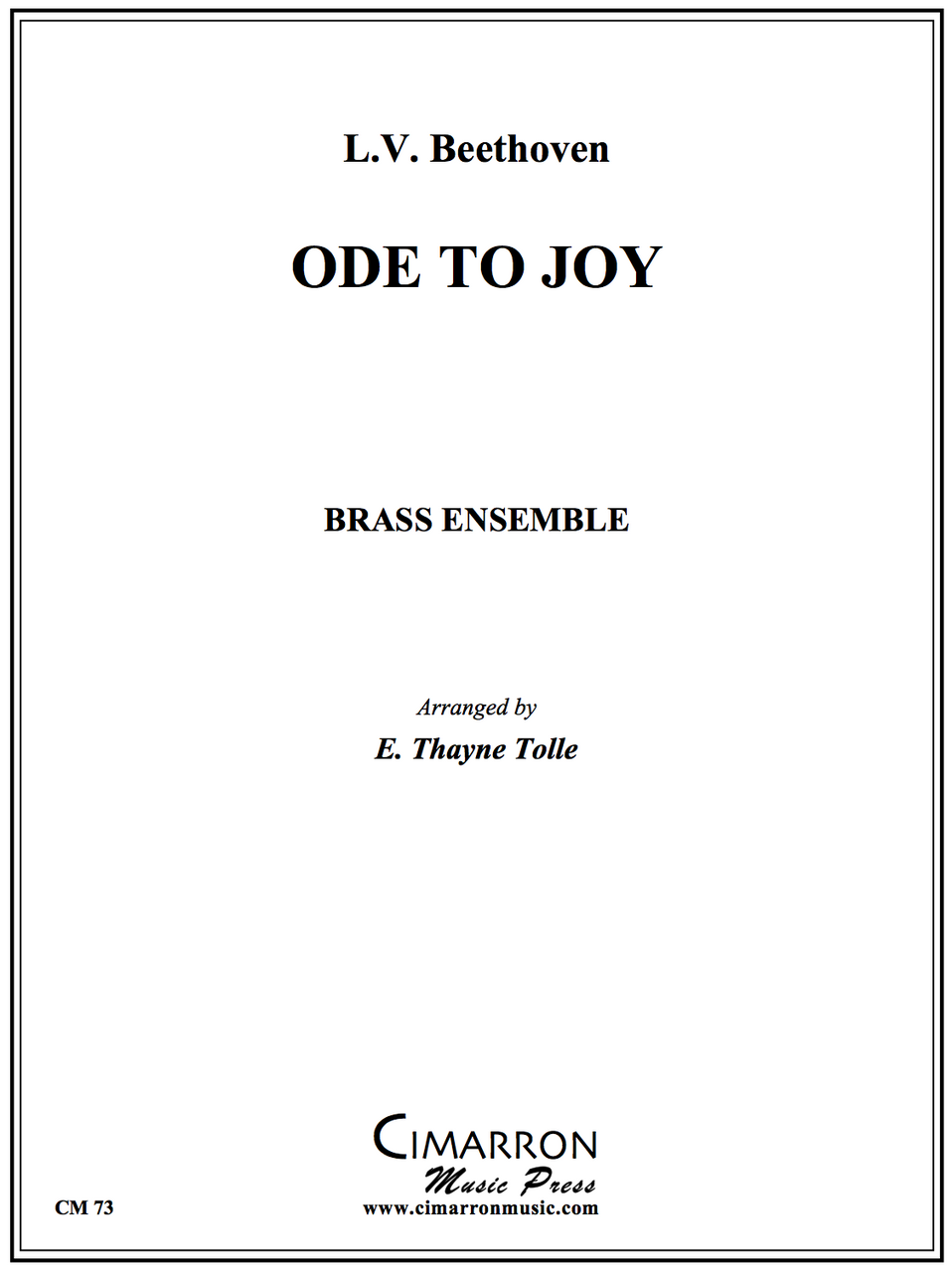 Beethoven - Ode to joy - Brass Ensemble