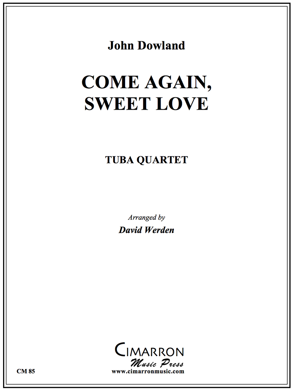 Dowland - Come again, Sweet Love - Tuba Quartet