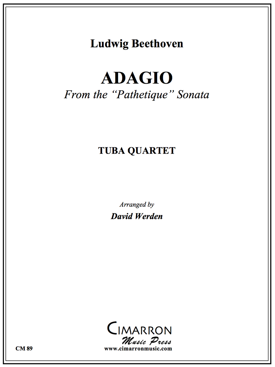 Beethoven - Adagio from Pathetique Sonata - Tuba Quartet