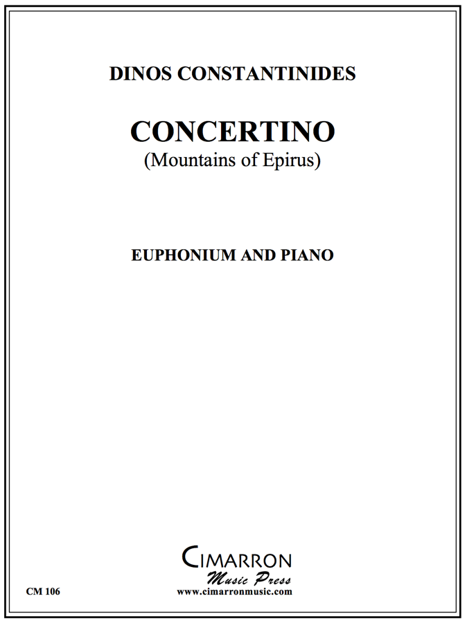 Constantinides - Concertino - Euphonium and Piano