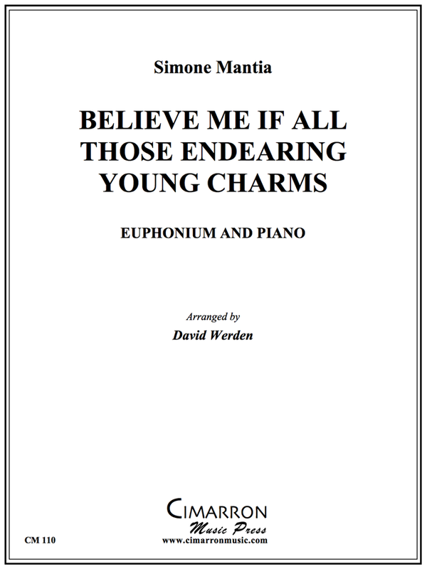 Mantia - Believe me if all those endearing young charms - Euphonium and Piano