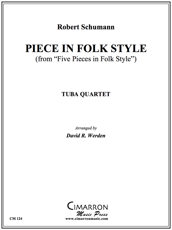 Schumann - Piece in Folk Style - Tuba Quartet