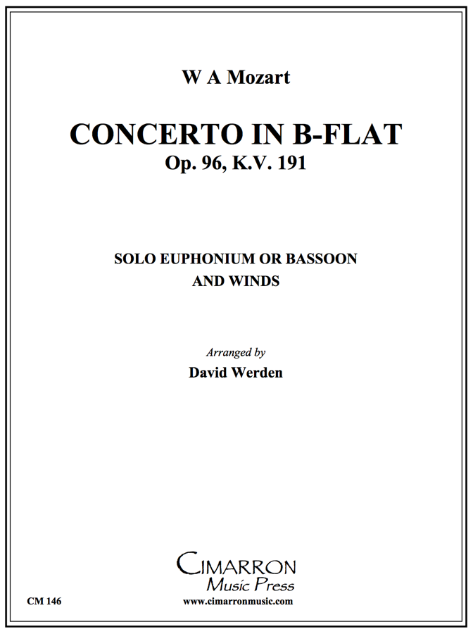 Mozart - Concerto in Bb, Op. 96 K. 191 (Mvt. 1) - Bassoon/Euphonium Solo and Winds