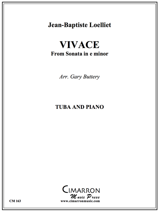 Loelliet - Vivace from Sonata in E min - Tuba and Piano