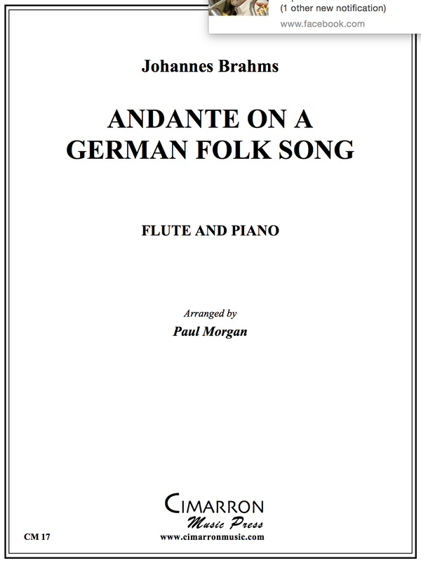 Brahms - ANDANTE ON A GERMAN FOLK SONG - Flute and Piano