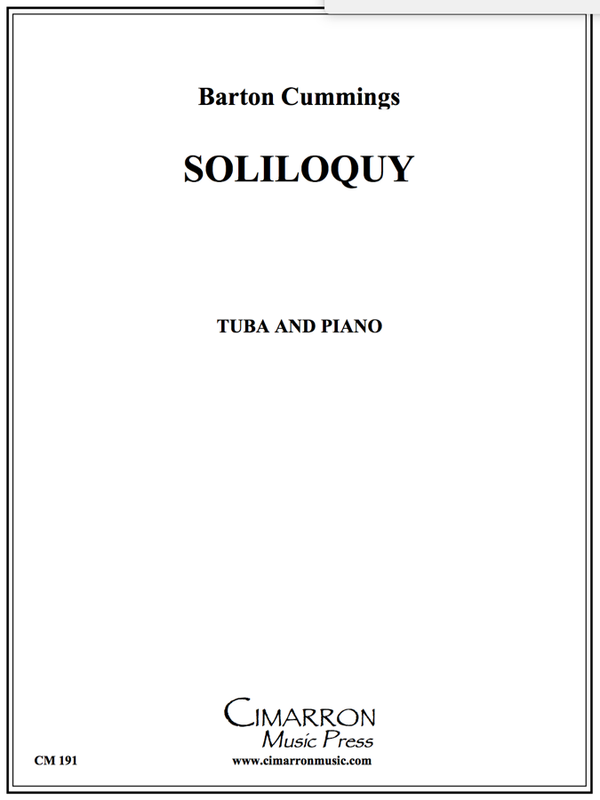 Cummings - Soliloquy for Tuba - Tuba and Piano