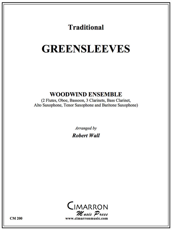 Traditional - Greensleeves - Woodwind Ensemble