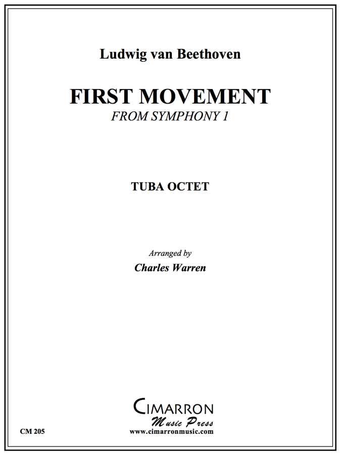 Beethoven - Symphony #1 (First Mvt.) - Tuba Ensemble