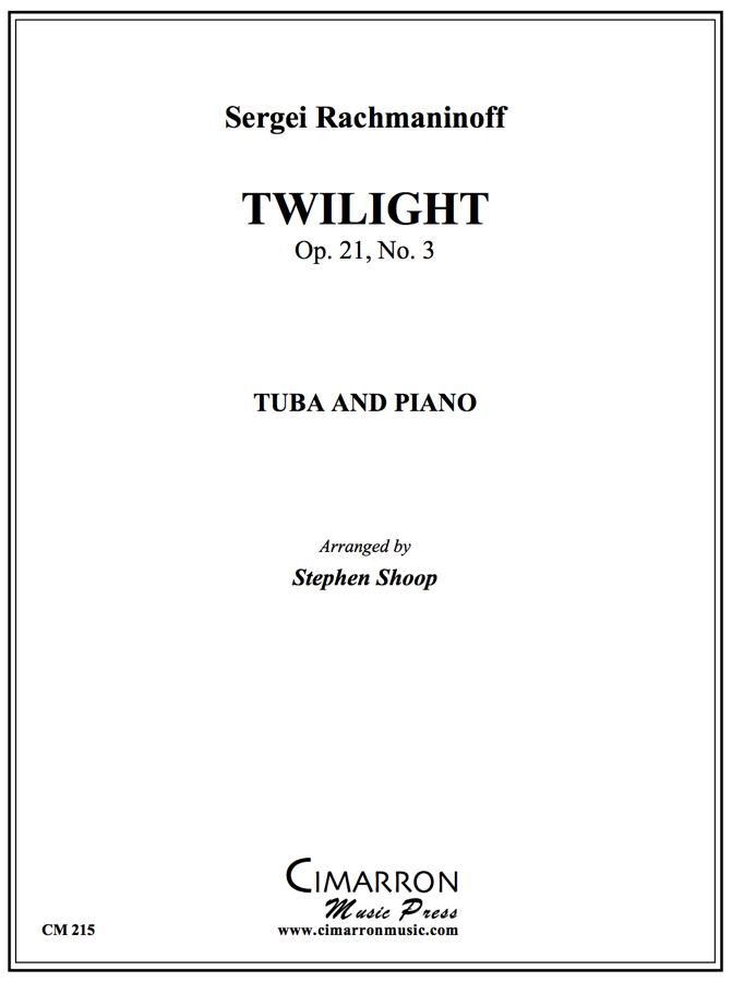 Rachmaninoff - Twilight - Tuba and Piano
