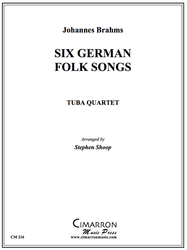 Brahms - Six German Folk Songs - Tuba Quartet (EETT)