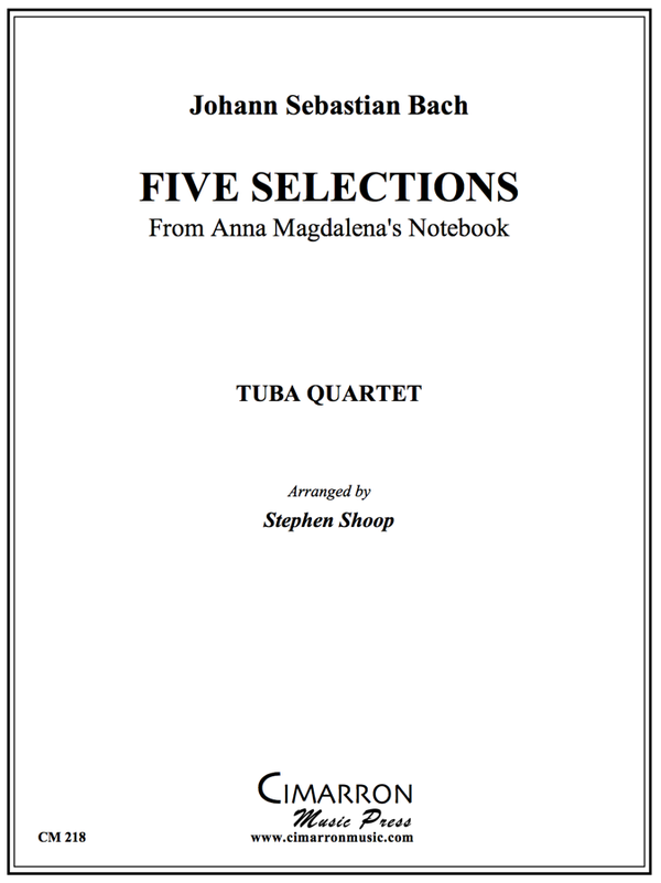Bach - Selections from Magdalena's Notebook - Tuba Quartet (EETT)