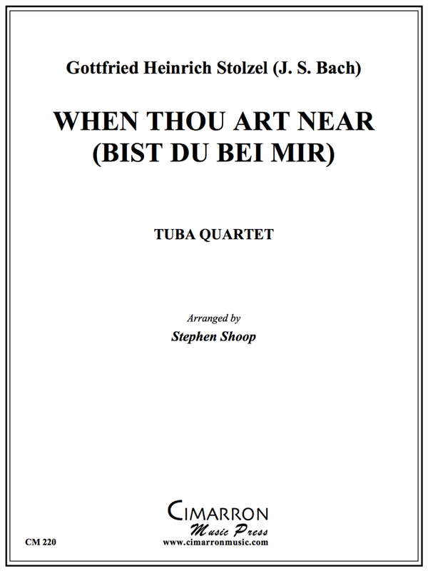 Stolzel - When Thou Be Near (Bist du bei Mir) - Tuba Quartet (EETT)