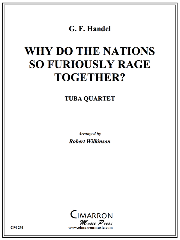 Handel - Why do the Nations So Furiously Rage Together? - Tuba Quartet (EETT)
