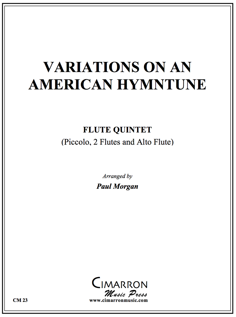 Morgan - Variations on a American Hymn Tune - Flute Quintet